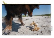 A Small Dog Fights With A Crab Carry-all Pouch