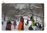 A Snow Day In The Park Carry-all Pouch