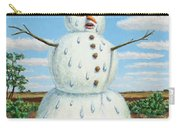 A Snowman In Texas Carry-all Pouch