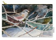 A Snowy Perch Carry-all Pouch