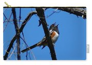 A Spotted Towhee Mid-song Carry-all Pouch