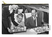 A Stewardess Serving Breakfast Carry-all Pouch by Underwood Archives