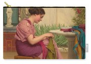 A Stitch Is Free Or A Stitch In Time 1917 Carry-all Pouch by John William Godward
