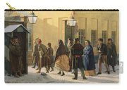 A Street Scene, Outside A Prison, 1868 Oil On Canvas Carry-all Pouch
