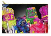 A Street Vendor's Mardi Gras In Plastic Wrap Carry-all Pouch