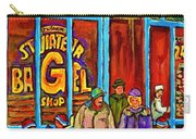 A Stroll After The Hockey Game St Viateur Bagel Montreal Winter Street Carole Spandau Carry-all Pouch