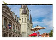 A Sunny Afternoon In Jackson Square Oil Carry-all Pouch by Steve Harrington
