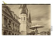 A Sunny Afternoon In Jackson Square Sepia Carry-all Pouch