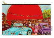 A Sunny Day At The Big Oj- Paintings Of Orange Julep-server On Roller Blades-carole Spandau Carry-all Pouch