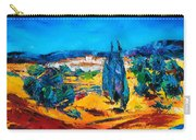 A Sunny Day In Provence Carry-all Pouch by Elise Palmigiani