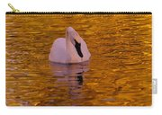 A Swan On Golden Waters Carry-all Pouch