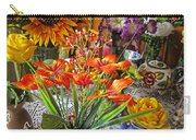 A Table Of Flowers Carry-all Pouch