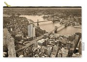 A Tale Of Two Bridges 2 Carry-all Pouch by Joann Vitali