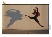 A Teenage Girl Playing With Her Shadow Carry-all Pouch