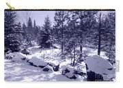 A Touch Of Snow In Lavender Carry-all Pouch