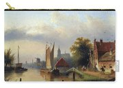 A Town By The River Carry-all Pouch