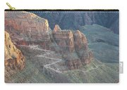 A Trail Winds Its Way Down A Steep Carry-all Pouch