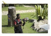 A Trainer And A Large Bird Of Prey At A Show Inside The Jurong Bird Park Carry-all Pouch