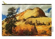A Tree And Orange Hill Carry-all Pouch