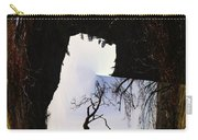 A Tree In A Square Abstract Carry-all Pouch