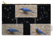 A Typical Eastern Bluebird's Lunch - Featured In Comfortable Art Group Carry-all Pouch
