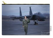 A U.s. Air Force Pilot Walking Away Carry-all Pouch