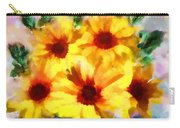 A Vase Of Sunflowers Carry-all Pouch by Valerie Anne Kelly
