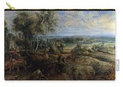 A View Of Het Steen In The Early Morning Carry-all Pouch by Peter Paul Rubens