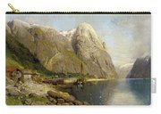 A Village By A Fjord Carry-all Pouch