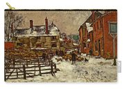 A Village In The Snow Carry-all Pouch