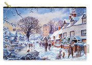 A Village In Winter Carry-all Pouch
