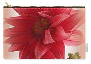 A Vision In  Coral - Dahlia Carry-all Pouch