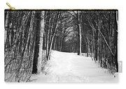 A Walk In Snow Carry-all Pouch