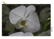 A White Orchid Flower Inside The National Orchid Carry-all Pouch