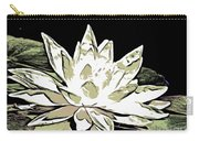 A  White Water Lily Carry-all Pouch
