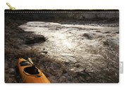 A Whitewater Kayak Rests On The Shore Carry-all Pouch