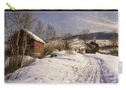 A Winter Landscape Lillehammer Carry-all Pouch by Peder Monsted