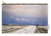 A Winter Landscape With A Horse And Cart Carry-all Pouch