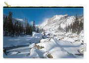 A Winter Morning In The Mountains Carry-all Pouch by Cascade Colors