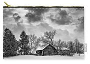 A Winter Sky - Oil Bw Carry-all Pouch