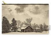 A Winter Sky Sepia Carry-all Pouch