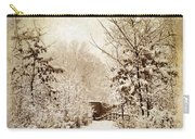 A Winter's Path Carry-all Pouch