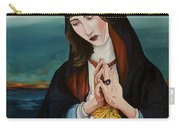A Woman In Prayer Carry-all Pouch by Joseph Demaree