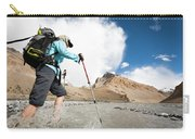 A Woman Is Crossing A River, Spiti Carry-all Pouch