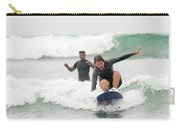 A Woman Learns To Surf Carry-all Pouch