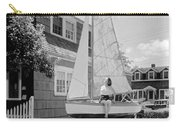 A Woman On Sailboat At Home Carry-all Pouch