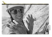 A Woman Rock Climber In Titcomb Basin Carry-all Pouch