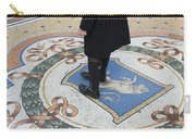 A Woman Rubs Her Heel For Good Luck On The Crest Of The Bull In Galleria Vittorio Emanuele II  Carry-all Pouch