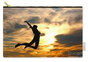 A Woman Showing Her Happiness Carry-all Pouch by Michal Bednarek
