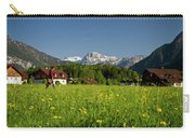 A Woman Walks Through An Alpine Meadow Carry-all Pouch